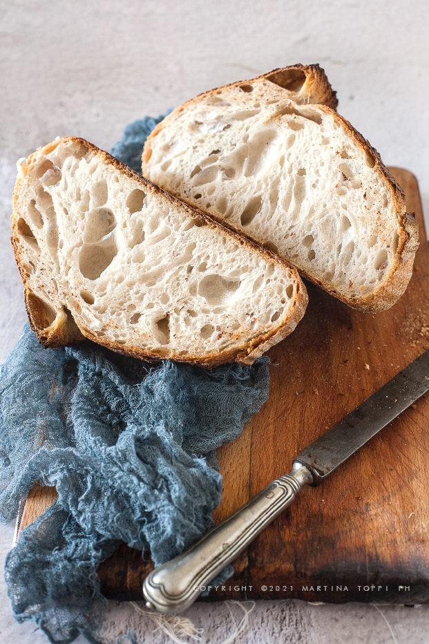 pane a lievitazione naturale con 68% di idratazione