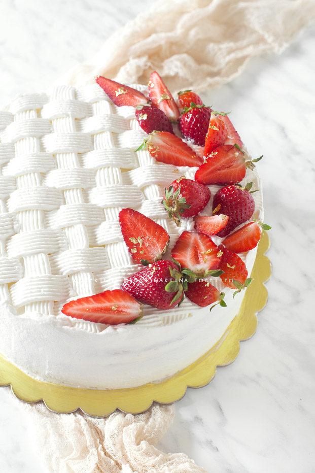 torta crema chantilly e fragole