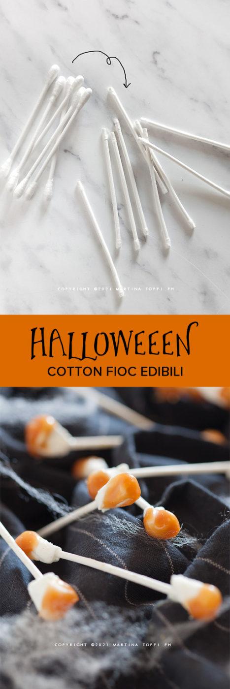 cotton fioc edibili per halloween