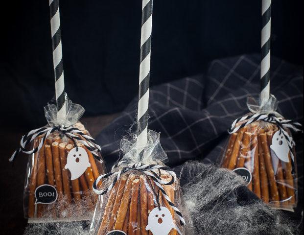 scopette di bretzeln per halloween